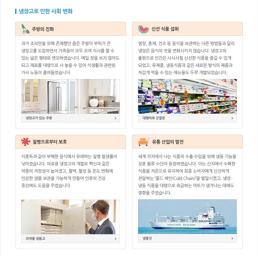 냉장고로 인한 사회 변화